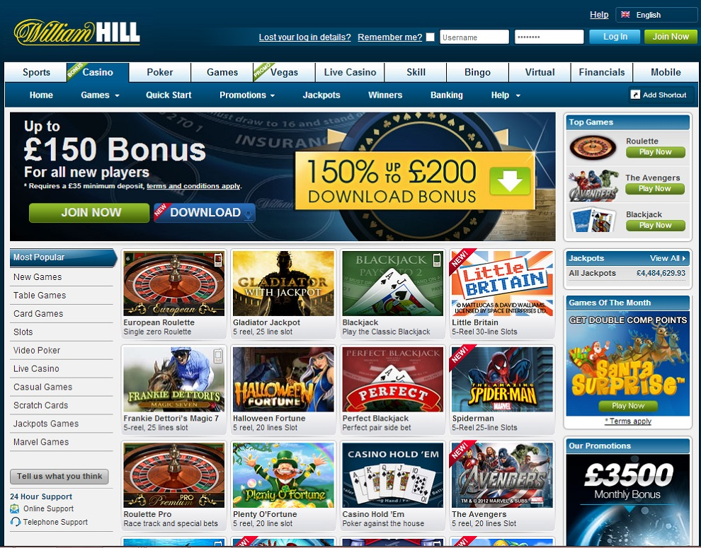 WilliamHill – bonus up to €200 (£150)